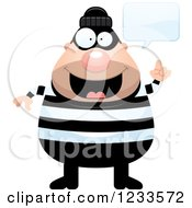 Clipart Of A Happy Talking Robber Burglar Guy Royalty Free Vector Illustration by Cory Thoman