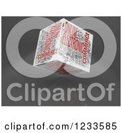 Clipart Of A 3d Floating Ecommerce Word Collage Box Cube On White Royalty Free CGI Illustration by MacX