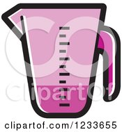 Clipart Of A Purple Measuring Cup Royalty Free Vector Illustration