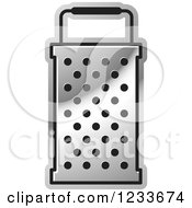 Clipart Of A Silver Grater 3 Royalty Free Vector Illustration