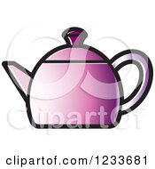 Clipart Of A Purple Tea Pot Royalty Free Vector Illustration by Lal Perera