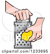 Clipart Of A Hand Grating A Lemon 3 Royalty Free Vector Illustration by Lal Perera