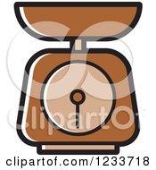 Clipart Of A Brown Food Scale Royalty Free Vector Illustration
