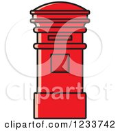 Clipart Of A Red Post Box Royalty Free Vector Illustration by Lal Perera