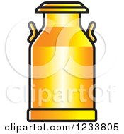 Clipart Of An Orange Milk Can Royalty Free Vector Illustration