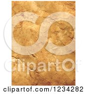 Clipart Of A Crumpled Paper Background Royalty Free Vector Illustration