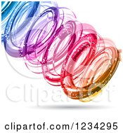 Clipart Of A Colorful Spiraling Vortex Royalty Free Vector Illustration