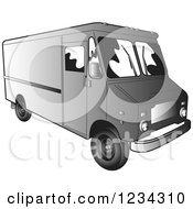 Gray Delivery Van