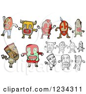 Clipart Of Witch Doctors Royalty Free Vector Illustration