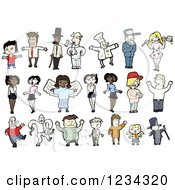 Clipart Of People Royalty Free Vector Illustration