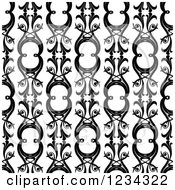 Clipart Of A Seamless Black And White Pattern Royalty Free Vector Illustration by lineartestpilot
