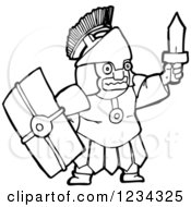 Black And White Roman Soldier
