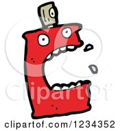 Clipart Of A Can Of Spray Paint Royalty Free Vector Illustration by lineartestpilot
