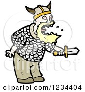 Clipart Of A Viking Man Yelling Royalty Free Vector Illustration by lineartestpilot