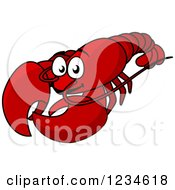 Clipart Of A Red Lobster Royalty Free Vector Illustration by Vector Tradition SM