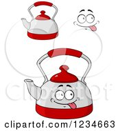Clipart Of A Happy Tea Pot Character Royalty Free Vector Illustration