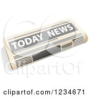 Clipart Of A Today Newspaper Royalty Free Vector Illustration by Vector Tradition SM
