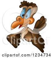 Happy Cuckoo Bird Flying