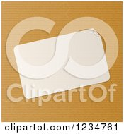 Clipart Of A Blank Peeling Label Over Brown Paper Royalty Free Vector Illustration by elaineitalia