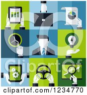 Clipart Of Business Man Icons Royalty Free Vector Illustration