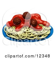 3d Clay Sculpture Spaghetti And Meatballs