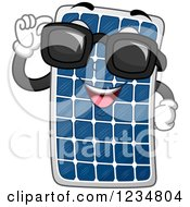 Clipart Of A Happy Solar Panel Mascot Wearing Sunglasses Royalty Free Vector Illustration by BNP Design Studio