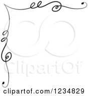Clipart Of A Black Upper Corner Swirl Design Element Royalty Free Vector Illustration