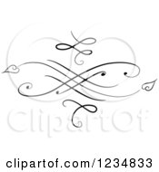 Clipart Of A Black Swirl Design Element 2 Royalty Free Vector Illustration