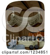 Clipart Of A Pirate Ship Storage Area Royalty Free Vector Illustration by BNP Design Studio