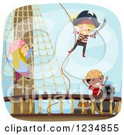 Pirate Kids On A Ship Deck