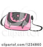 Clipart Of A Pink Boutique Purse Royalty Free Vector Illustration by BNP Design Studio