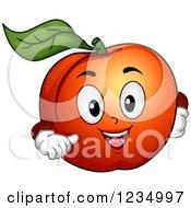 Happy Peach Mascot