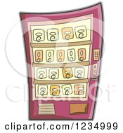 Clipart Of A Vending Machine Royalty Free Vector Illustration