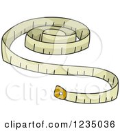 Clipart Of Knitting Measuring Tape Royalty Free Vector Illustration by BNP Design Studio
