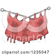 Clipart Of Knitting Needles And Project Royalty Free Vector Illustration