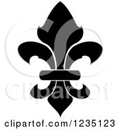 Black And White Lily Fleur De Lis 7