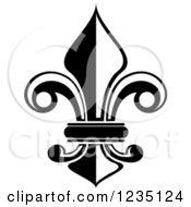 Black And White Lily Fleur De Lis 6
