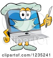 Poster, Art Print Of Doctor Pc Computer Mascot Holding A Scalpel