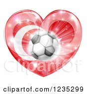 Clipart Of A 3d Turkey Flag Heart And Soccer Ball Royalty Free Vector Illustration