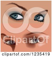 Clipart Of Female Eyes With Makeup 5 Royalty Free Vector Illustration by dero