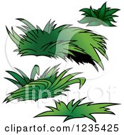 Clipart Of Green Plants 2 Royalty Free Vector Illustration by dero