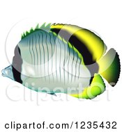 Clipart Of A Lined Butterflyfish Royalty Free Vector Illustration