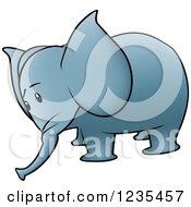 Sad Blue Elephant