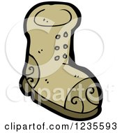 Clipart Of A Brown Boot Royalty Free Vector Illustration by lineartestpilot
