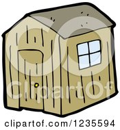 Clipart Of A Shack Royalty Free Vector Illustration
