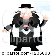 Clipart Of A Talking Chubby Jewish Rabbi Royalty Free Vector Illustration by Cory Thoman