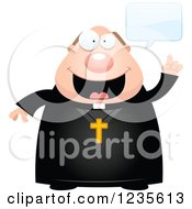 Clipart Of A Chubby Priest Talking Royalty Free Vector Illustration by Cory Thoman