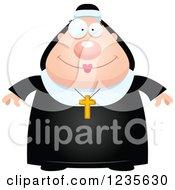 Happy Smiling Chubby Nun