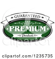 Clipart Of A Green Quality Guarantee Label Royalty Free Vector Illustration