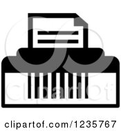 Clipart Of A Black And White Printer Office Icon Royalty Free Vector Illustration